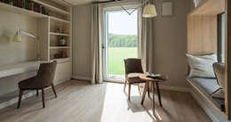 modern Study/office by Bau-Fritz GmbH & Co. KG