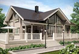 Projekty, klasyczne Domy zaprojektowane przez EcoHouse Group
