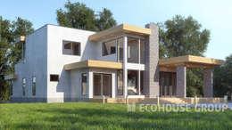 Casas de estilo minimalista por EcoHouse Group