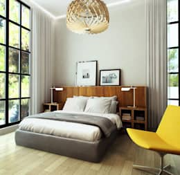 eclectische Slaapkamer door Porterouge Interiors \ Krasnye Vorota