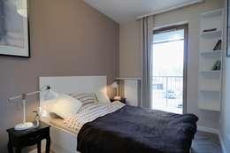 غرفة نوم تنفيذ ARTEMA  PRACOWANIA ARCHITEKTURY  WNĘTRZ