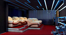 house interiors: modern Media room by Vinyaasa Architecture & Design