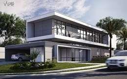 Projekty, nowoczesne Domy zaprojektowane przez inghjgbh