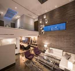 Salas / recibidores de estilo  por URBN