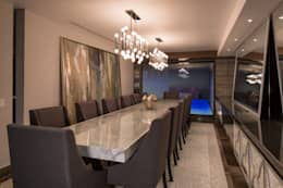 rustic Dining room by URBN