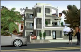 residence with simple and modern features: modern Houses by Ar. Sukhpreet K Channi