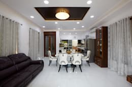 Dr Rafique Mawani's Residence: minimalistic Dining room by M B M architects