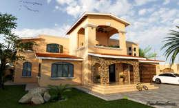 Casas de estilo ecléctico por D3c Arquitectos