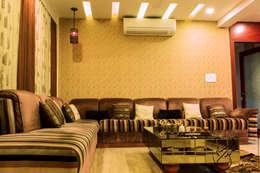 A Duplex Apartment, Raipur: modern Living room by ES Designs