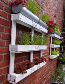Salat-Bar aus Paletten: industrialer Garten von wohnausstatter