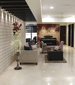 Serenity home!: modern Living room by Neha Changwani