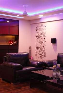 Serenity home!: modern Media room by Neha Changwani