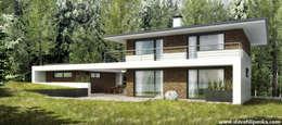 Проект дачи с сауной 1: Дома в . Автор – Slava Filipenka architect
