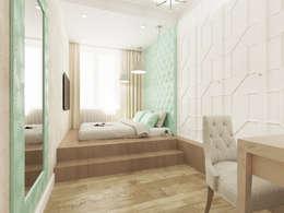 Визуализация: Ар Деко в Москве : Спальни в . Автор – OK Interior Design