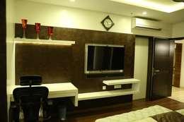 Apartment interiors at Sattva Luxuria: modern Bedroom by Studio Stimulus