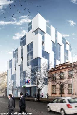 Конкурс на реконструкцию мэрии в Праге 7: Офисные помещения в . Автор – Slava Filipenka architect