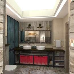 Baños de estilo industrial por ЙОХ architects