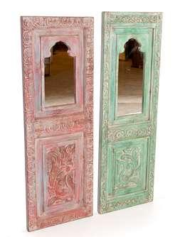 Espejo rectangular policromado talla: Hogar de estilo  de Conely