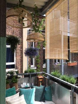 Voor en na klein balkon wordt schitterende minituin - Kleur gevel eigentijds huis ...