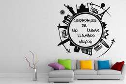Paredes y pisos de estilo moderno por Vinilos Decorativos .com