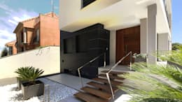 Jardines de estilo moderno por arqubo arquitectos