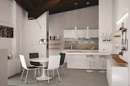 Cocinas de estilo moderno por Studio Atelier di Silvana Barbato