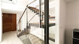 Couloir et hall d'entrée de style  par arqubo arquitectos