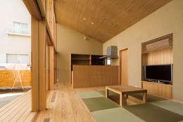 岩曽町・北庭の家: 中山大輔建築設計事務所/Nakayama Architectsが手掛けた和室です。