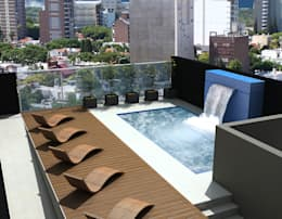 modern Pool by Arcadia Arquitectura