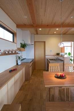 上之町の家: ATELIER Nが手掛けたキッチンです。