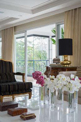 Livings de estilo clásico por Fernanda Bertolucci Arquitetura | Interiores
