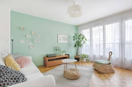 Projekty,  Salon zaprojektowane przez MON OEIL DANS LA DECO