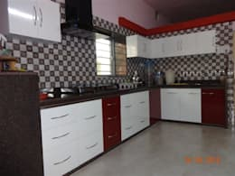 modular kitchen design : modern Kitchen by aashita modular kitchen