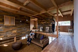 rustic Living room by ALTS DESIGN OFFICE