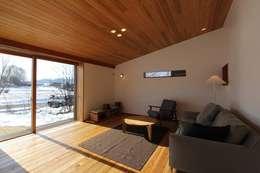 scandinavian Living room by 藤松建築設計室
