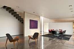 Casa X: Salas de estilo moderno por Agraz Arquitectos S.C.