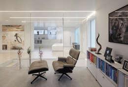 Haus Sch: Moderne Wohnzimmer Von LABOR WELTENBAU ARCHITEKTUR