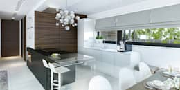 Aranżacja wnętrza domu HomeKONCEPT-32: styl , w kategorii Kuchnia zaprojektowany przez HomeKONCEPT | Projekty Domów Nowoczesnych