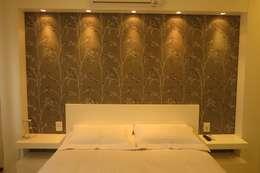 غرفة نوم تنفيذ Paula Oliveira Szabo Arquitetura
