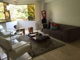 Proyecto La Castellana: Salas / recibidores de estilo moderno por THE muebles