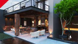 CASA CELAYA: Terrazas de estilo  por Tectónico