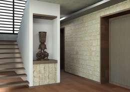 Pasillos y vestíbulos de estilo  por Arq. Rodrigo Culebro