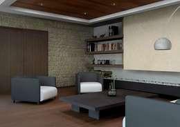 modern Living room by Arq. Rodrigo Culebro Sánchez