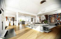 Rezydencja Parkowa: styl , w kategorii Salon zaprojektowany przez MG Projekt Projekty Domów