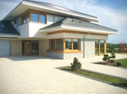 Casas de estilo moderno por MG Projekt Projekty Domów