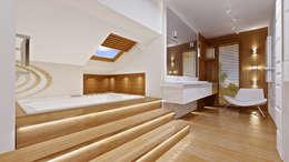 Bagno in stile in stile Moderno di MG Projekt Projekty Domów