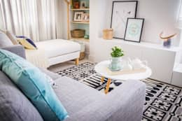 Salon de style de style Scandinave par Homestories