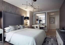 2 bedroom apartment. New York: Спальни в . Автор – KAPRANDESIGN
