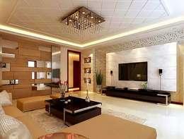 Elegant T.V unit: asian Living room by Elegant Dwelling