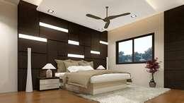 Wall panelled bedroom set: asian Bedroom by Elegant Dwelling